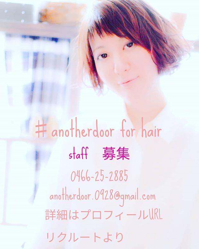美容室の求人#藤沢#美容室#アナザードア#求人#美容師#スタッフ募集