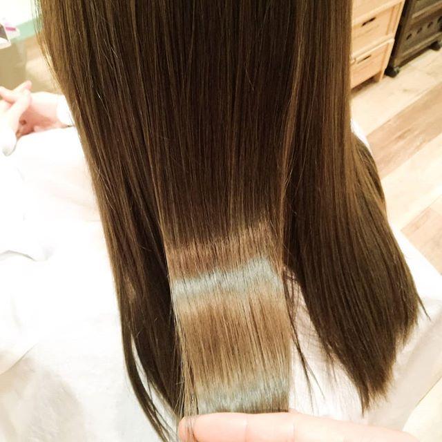 染める前の髪